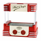 RETRO HOT DOG SAUSAGE COOKER ROLLER GRILL MACHINE ~ NOSTALGIA ELECTRICS RHD-800