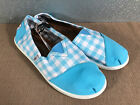 BNWT Older Girls Sz 6 Rivers Doghouse Brand Cute Aqua/Checked Canvas Shoes