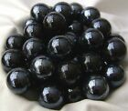 NEW 50 BLACK BEAUTY 14mm GLASS MARBLES TRADITIONAL GAME or COLLECTORS ITEMS HOM