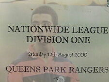 QPR 2000-2001 PRESS/TEAMSHEETS: DIVISION ONE: CHOOSE FROM THE DROP DOWN LIST !!
