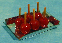 1:12 Scale 6x Toffee Apples In A Tray Dolls House Miniature Food Accessories