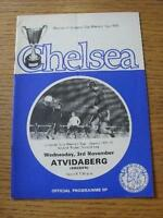 03/11/1971 Chelsea v Atvidaberg [European Cup Winners Cup] (Token Removed, Folde