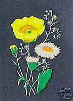 Buttercup Daisy Wild Flowers Decal Transfers (Med) x20