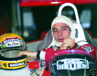Ayrton Senna F1 Legend 10x8 Photo Grab