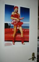 Anna Kournikova Tennis Door Colour Poster RED