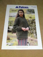 PATTONS KNITTING PATTERN Super Chenille C 4981