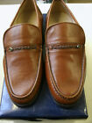 MENS GRENSON COGNAC LEATHER 'AMOS' SLIPON MOCCASIN SHOE
