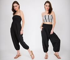 HAREM 2 in 1 COTTON TROUSER and JUMPSUIT GENIE PANTS YOGA ALI BABA