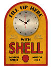 SHELL MOTOR OILS  VINTAGE  TIN SIGN CLOCK  Retro Style