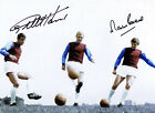 Geoff Hurst & Martin Peters West Ham SIGNED Photo AFTAL