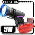 5w LED Bicycle Front Rear Head Light Flashlight Torch B