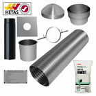 "7m 6"" Flexible Multifuel Flue Liner Pack/kit For logburner woodburner MfuelStove"