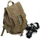 F2002 Canvas DSLR Camera Bag Backpack Rucksack --Green