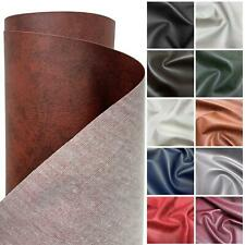 FAUX LEATHER LEATHERETTE MATERIAL HEAVY FEEL PVC VINYL UPHOLSTERY FABRIC 1M