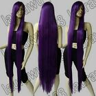 60 in. Long 150cm Heat Resistant Dark Purple Straight Cosplay Wig Free shipping