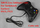 New XBOX TALKBACK CABLE for TURTLE BEACH DX11,PX21 LIVE CHAT/ 2.5mm / EAR FORCE