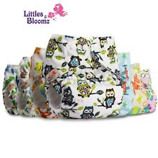 Baby Washable Reusable Real Cloth Pocket Nappy Cover Wrap, suits Birth to Potty