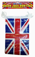 Union Jack Bunting 12ft long/11 flags Queens Jubilee or 2012 Olympics