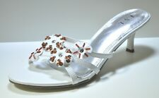 JSL White High Heel Womens Sandals Shoes #9041 (Retail $48)