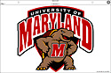 Maryland Terrapins Terps JUMBO Window Static Cling Decal Football University of