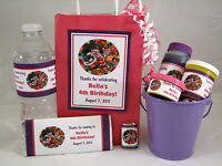 Candyland Girl Birthday PDF CD w/ Favor Tag Water Candy Bar Bubble Label Wrapper