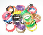 Wholesale Lots 100pcs Marbleized Color Resin Lucite Rings