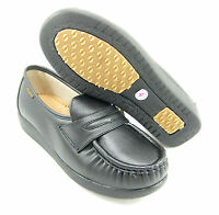 Ball Band W023 BLACK COMFORT ANTI SLIP Womens NURSE SHOES Light Weight Loafers