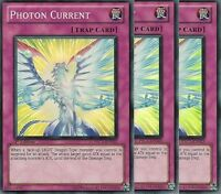 3 X YU-GI-OH: PHOTON CURRENT - SUPER RARE - PRC1-EN023 - 1st EDITION