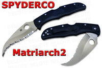 """Spyderco Matriarch 2 Serrated VG-10 """"S"""" Blade Folding Knife NUMBERED C12SBK2"""