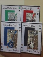 Personalised Handmade Male Birthday Guitar Card ..16th 18th 21st etc...