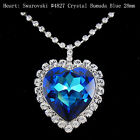 Necklace Titanic Heart of the Ocean Bermuda Blue Swarovski Crystal 22901004