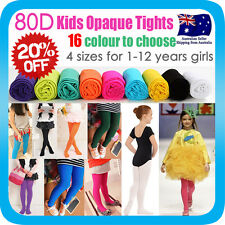 GIRLS KIDS TIGHTS PANTYHOSE HOSIERY STOCKINGS OPAQUE BALLET DANCE* 80D