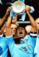 Carlos Tevez SIGNED Autograph on 12x8 Photo AFTAL COA in Manchester City Shirt
