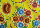 YELLOW BLOOM MEXICAN FIESTA PICNIC PATIO BBQ OILCLOTH VINYL TABLECLOTH 48x84 NEW