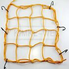 Motorbike Motorcycle Cargo 6 Hooks Hold Down Net Bungee - Yellow