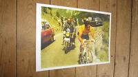 Eddy Merckx Tour de France Legend COLOUR POSTER