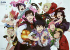 Ao no Blue Exorcist / Working!! poster promo big official