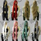 40 in. Long Bangs All Color Heat Resistant Layer Wavy Cosplay Wigs Free Shipping