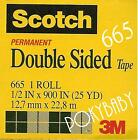 10pcs 3M Scotch double sided tape 665 1/2x900 in 25yd
