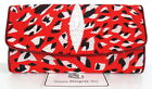 100% GENUINE STINGRAY LEATHER CLUTCH TRIFOLD WALLET RED CHEETAH TIGER NEW