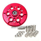 Billet Ducati Red Clutch Pressure Plate + Spring Retainer Caps 1098 1198 749
