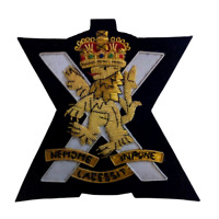 Royal Regiment of Scotland Wire Embroidered Bullion Blazer Badge - British Army