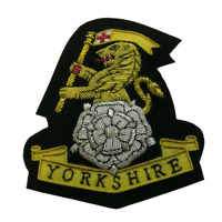 Yorkshire Regiment Wire Embroidered Bullion Blazer Badge - British Army/Military
