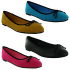 New Ladies Flat Ballet Dolly Ballerina Casual Pumps Shoes Sizes UK 3 4 5 6 7 8