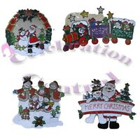 3 PACK of GEL CLING WINDOW STICKER CHRISTMAS DECORATIONS
