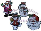 3 PACK of GEL CLINGS WINDOW STICKERS CHRISTMAS DECORATIONS