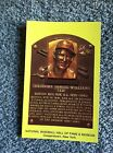 TED WILLIAMS HOF Hall of Fame Post Card Cert of provenance Claudia Williams