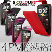 LEATHER FLIP CASE COVER & SCREEN PROTECTOR FOR HTC SENSATION XE