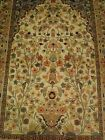 RARE TREE LIFE GARDEN ALL OVER FLOWRAL HAND KNOTTED RUG CARPET SILK WOOL 6x4