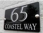 Contemporary House Sign Plaque Door Number 1 - 999 Personalised Name Plate